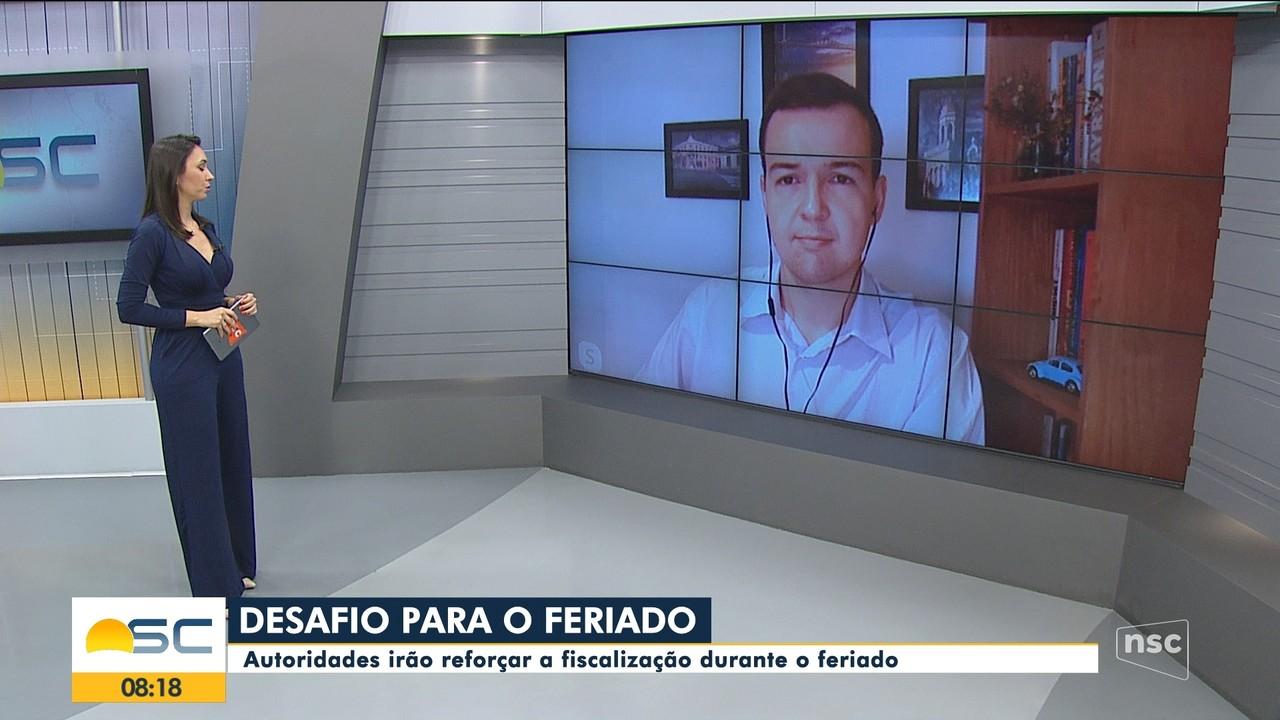 Ânderson Silva e Rento Igor falam sobre fiscalização durante o feriado