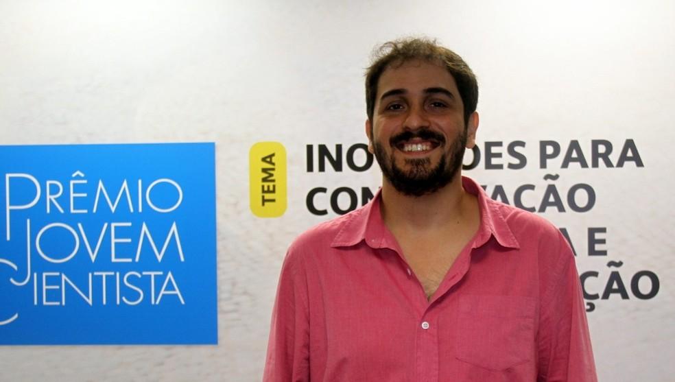 """João Vitor Campos e Silva foi o vencedor do PJC na categoria """"Mestre e Doutor"""" — Foto: Arquivo CNPq"""