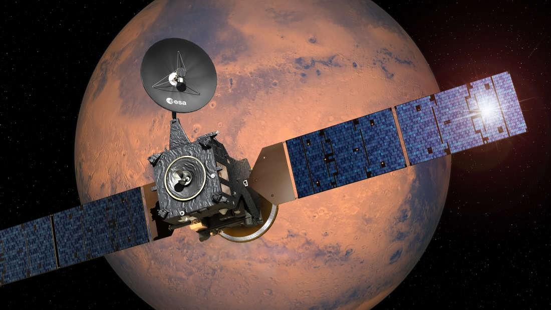 Sonda Trace Gas Orbiter (TGO), da ESA, procura por evidências de vida em Marte (Foto: ESA/David Ducros)