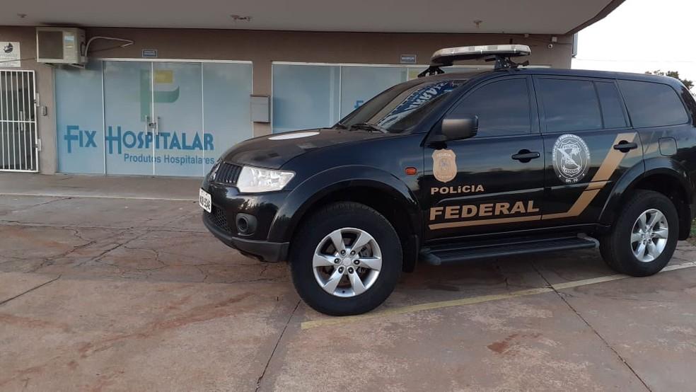 Polícia Federal investiga se houve superfaturamento na compra de máscaras — Foto: Divulgação/Polícia Federal