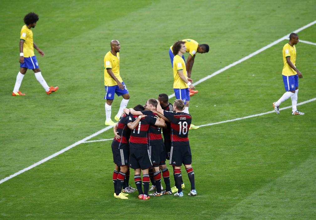 Völler diz que ficou surpreso com a atuação perfeita da Alemanha no 7 a 1 — Foto: Agência Reuters