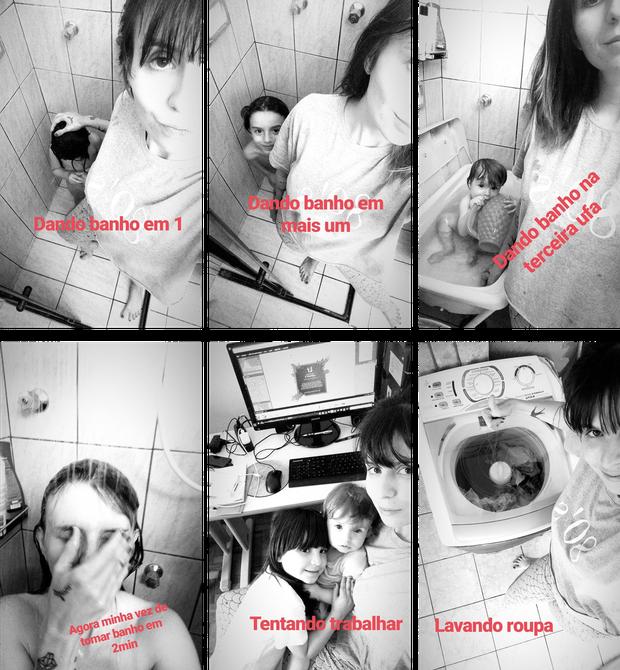 """Fotógrafa mostra rotina de """"super-mãe"""" na internet e post viraliza (Foto: Reprodução/Facebook)"""