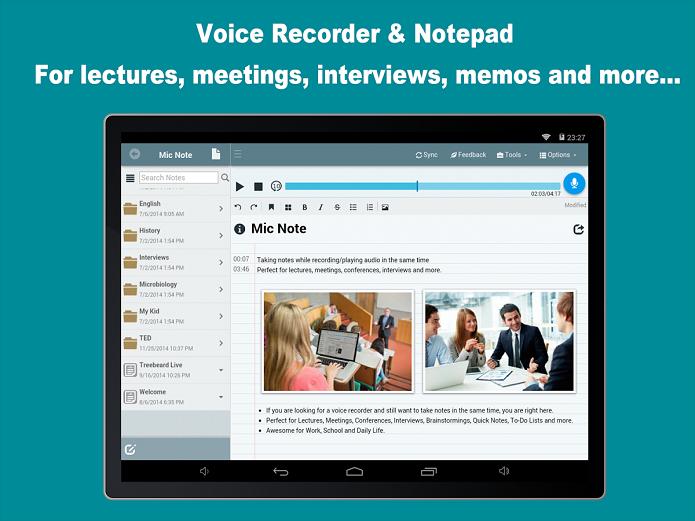 Mic Note oferece notas e áudio ao mesmo tempo (Foto: Divulgação/MicNote)