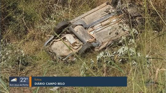 Jovem morre e quatro pessoas ficam feridas em acidente na BR-354, em Campo Belo, MG