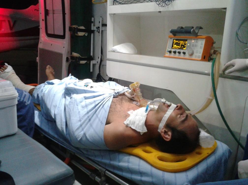 Rui foi transferido para Salvador em uma UTI aérea — Foto: Arquivo Pessoal