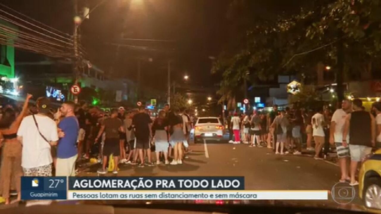 Rio tem mais uma noite de aglomerações pela cidade