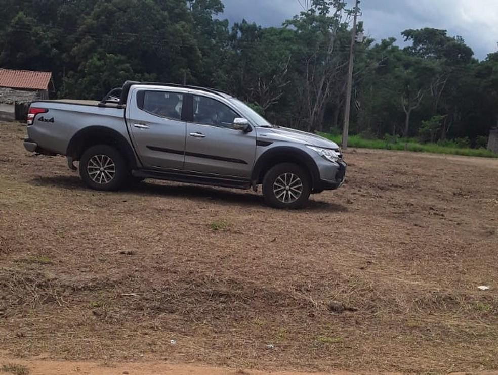 Caminhonete foi roubada durante assalto contra três indígenas em Rondônia.  — Foto: Arquivo pessoal