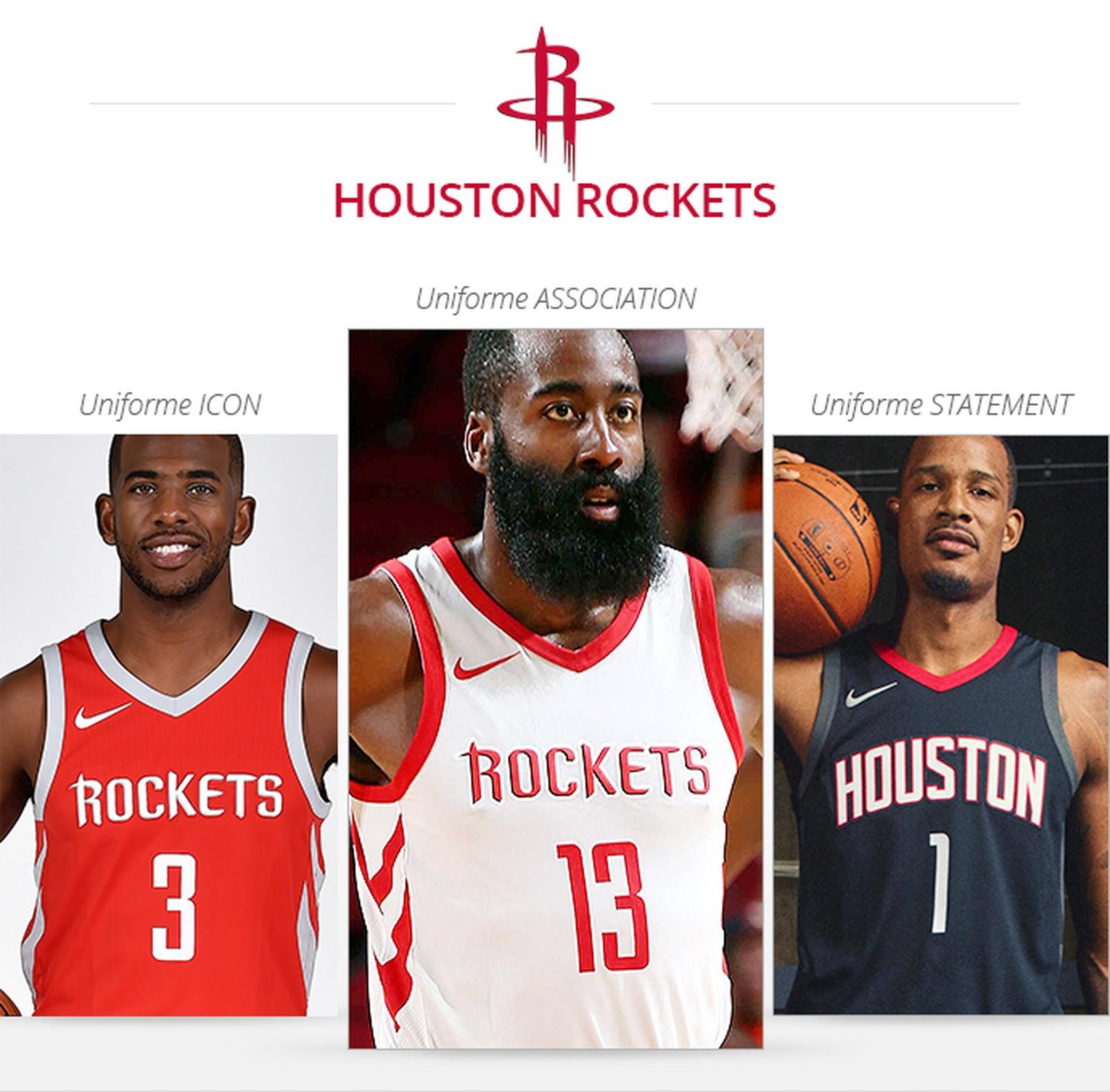 Uniformes Houston Rockets 2017/18