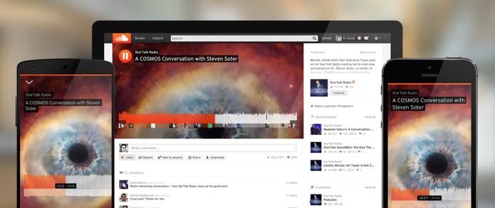 SoundCloud muda interface web e deixa semelhante com aplicativos móveis (Foto: Divulgação/SoundCloud)