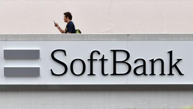 Logo do Softbank é visto em Tóquio: banco quer investir mais em tecnologia (Foto: Julia Kawasaki/Getty Images)