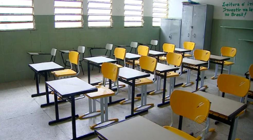 Sala de Aula em Sergipe — Foto: Reprodução/TV Sergipe/Arquivo