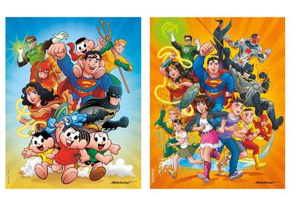 Capas do crossover de Turma da Mônica com Liga da Justiça (Foto: Divulgação)