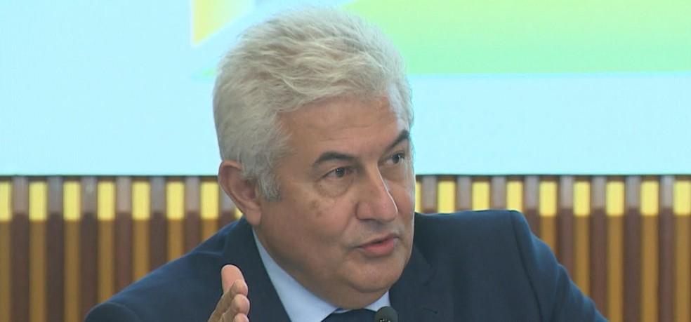 Ministro Marcos Pontes estima que Inpe terá corte de 15% no orçamento em 2021 — Foto: Eduardo Marcondes/ TV Vanguarda