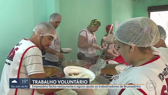 Brumadinho: voluntários servem comida a moradores e bombeiros