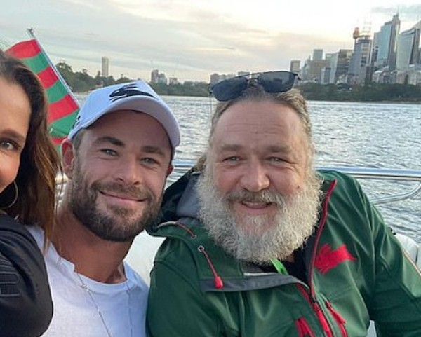 Chris Hemsworth e Russell Crowe (Foto: Instagram)