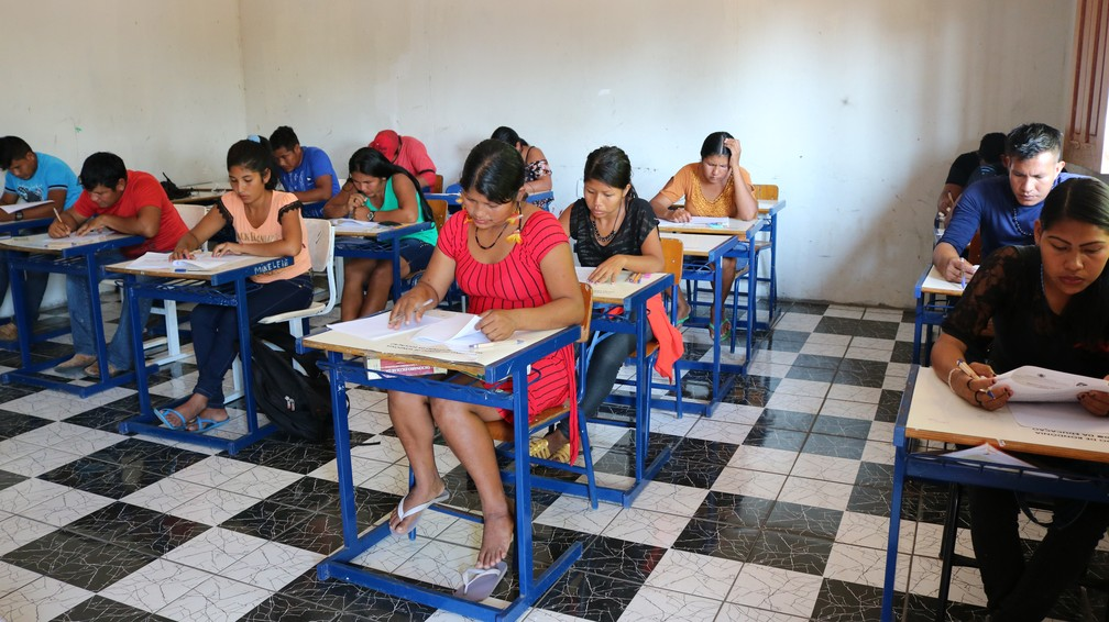 Indígenas de nove aldeias fizeram a prova (Foto: Maíra Bittencourt/ Arquivo Pessoal )