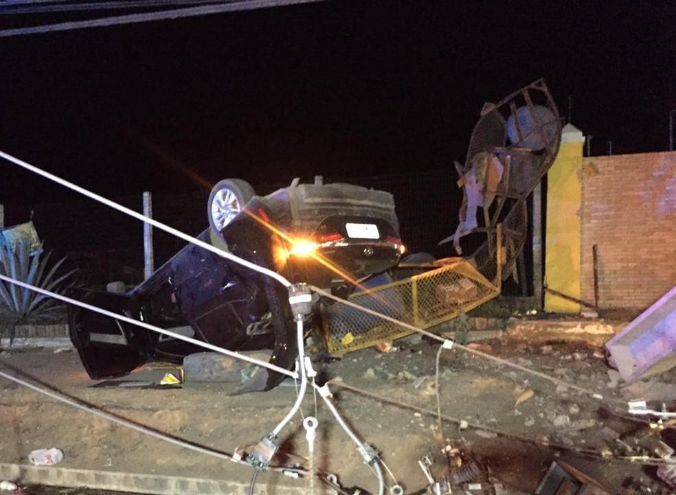 Acidente aconteceu em Teixeira de Freitas — Foto: Arquivo Pessoal