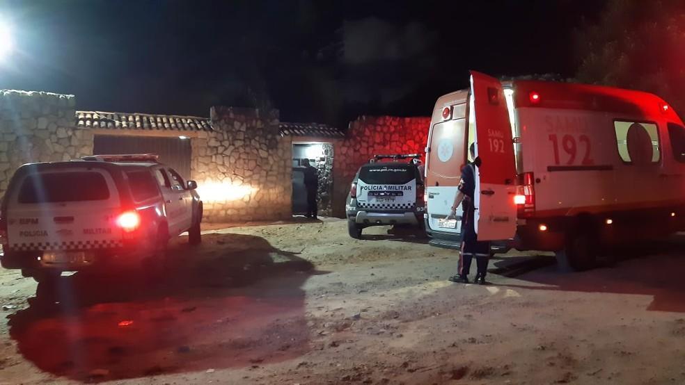 Crime ocorreu em bar do conjunto San Vale — Foto: Sérgio Henrique Santos/Inter TV Cabugi