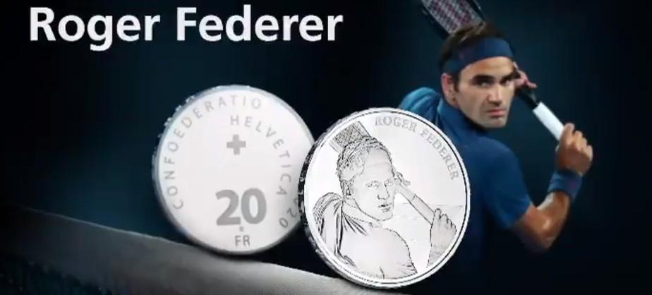 Moedas com o rosto de Roger Federer se esgotam e passam a valer mais de R$ 480