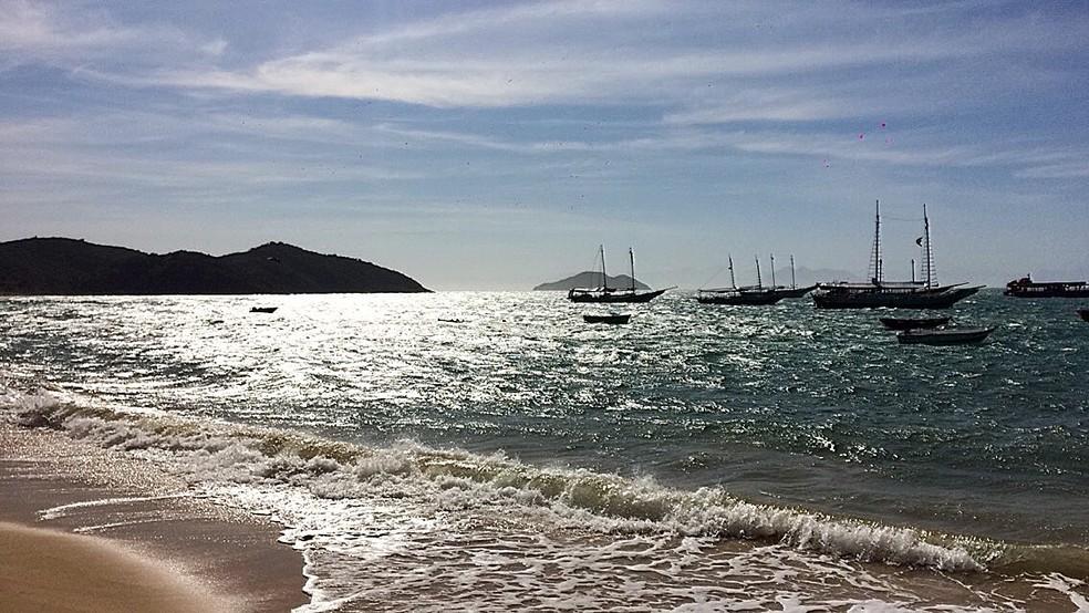 Praia do Canto em Búzios — Foto: Gustavo Garcia/G1