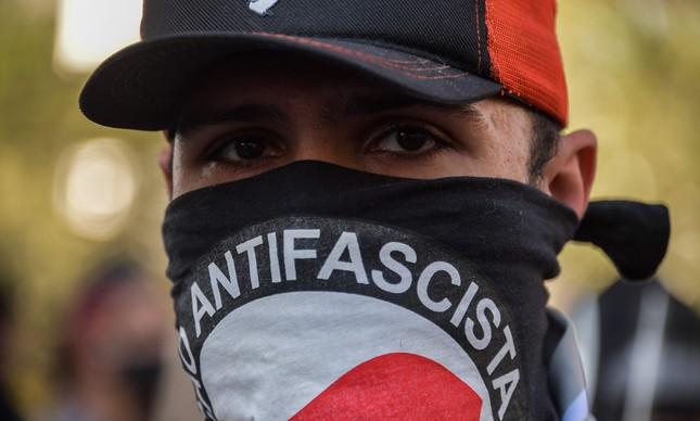 Manifestante durante protesto em São Paulo