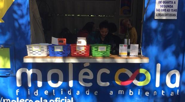Cabine de coleta (Foto: Reprodução/Facebook/Molécoola)