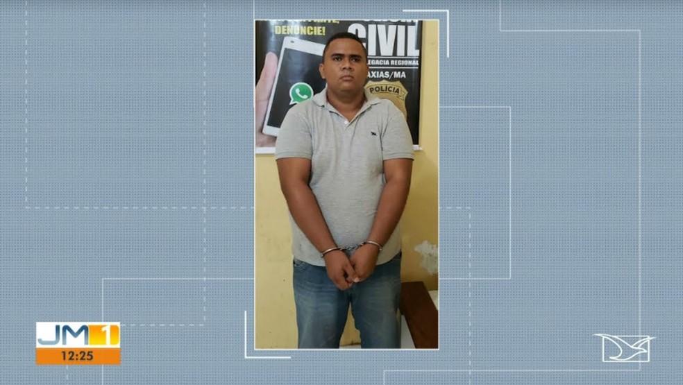 Preso suspeito de matar tia adotiva dentro de cemitério no Maranhão. — Foto: Reprodução/TV Mirante.