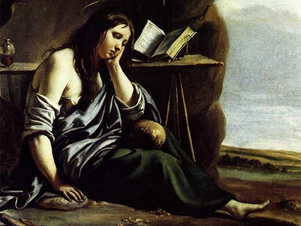 Maria Madalena retratada por Caravaggio (Foto: Reprodução)