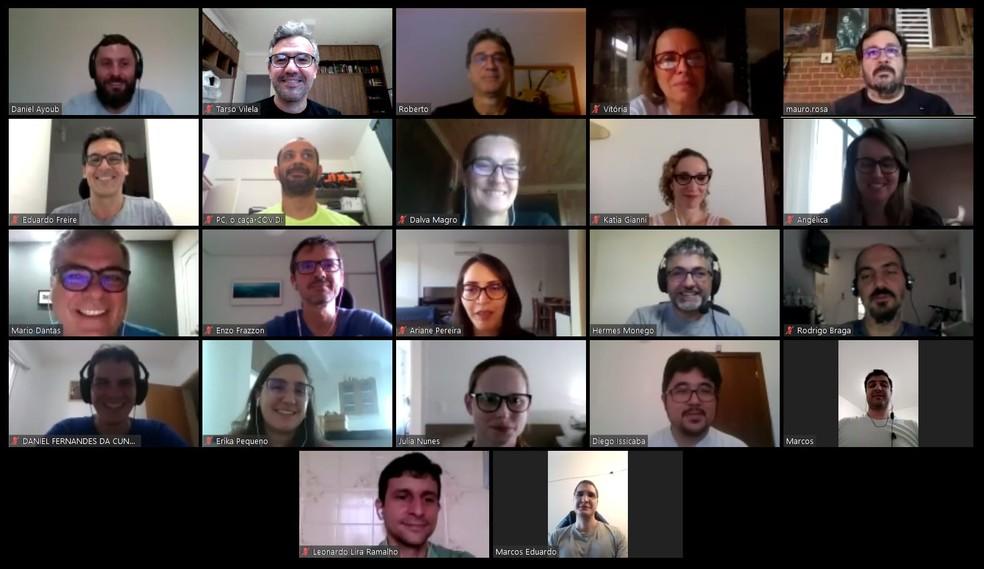 Mais de 40 profissionais, de 12 instituições de ensino do Brasil, trabalham no projeto do ventilador Fasten Vita — Foto: Inesc P&D Brasil/Imagem cedida