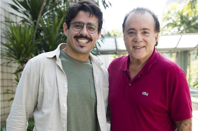 Lucas Domso e Tony Ramos (Foto: TV  Globo/João Miguel Júnior)