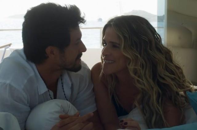 Marcos (Romulo Estrela) e Silvana (Ingrid Guimarães) (Foto: TV Globo)