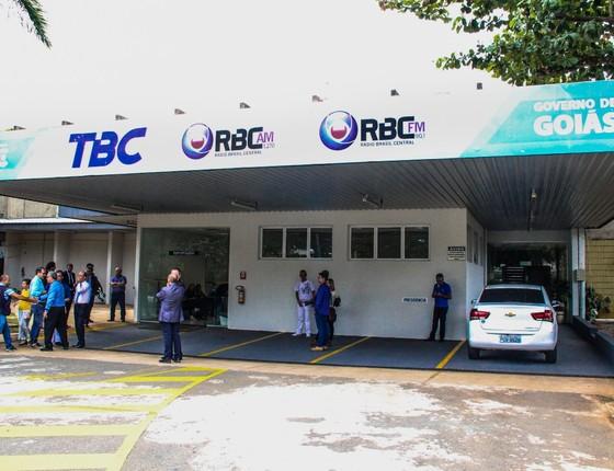 Sede da TBC, emissora estatal do governo de Goiás (Foto: Reprodução)