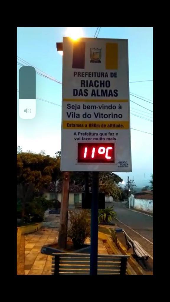Vila do Vitorino, em Riacho das Almas, registra 11ºC na manhã desta terça (3)