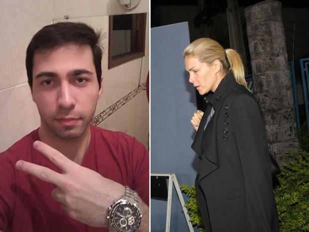 O fã Rodrigo Augusto e a apresentadora Ana Hickmann (Foto: Reprodução/Facebook; Denilton Dias/O Tempo/Estadão Conteúdo)