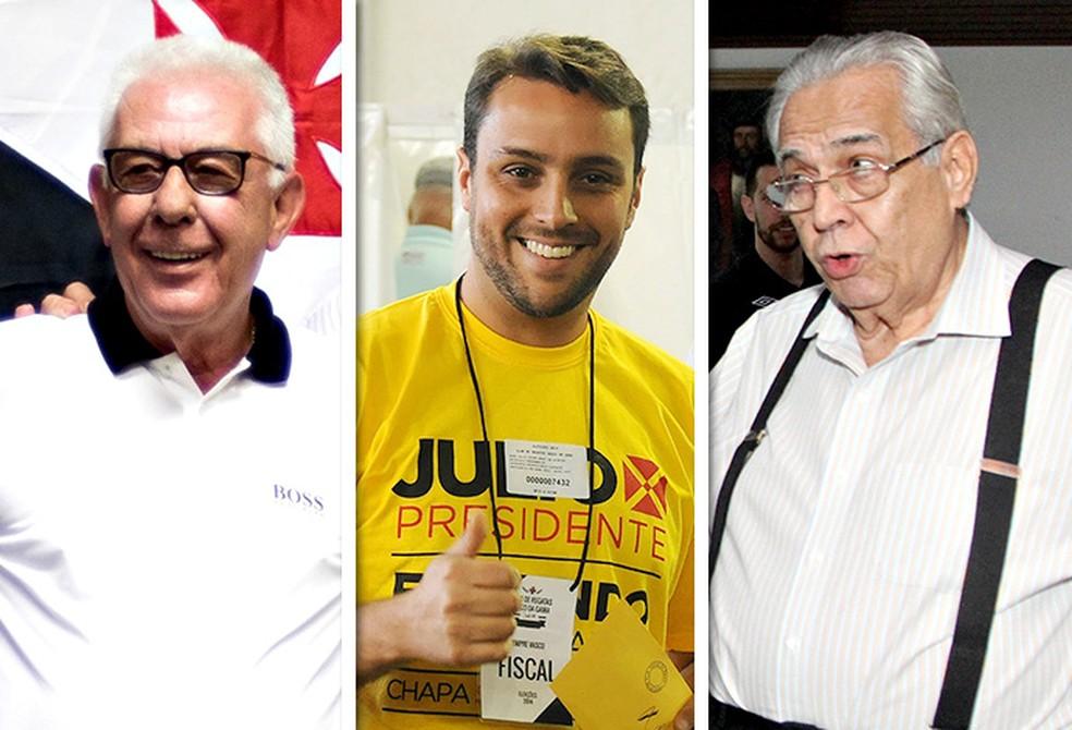 Fernando Horta, Julio Brant e Eurico Miranda, candidatos à presidência do Vasco (Foto: Infoesporte)