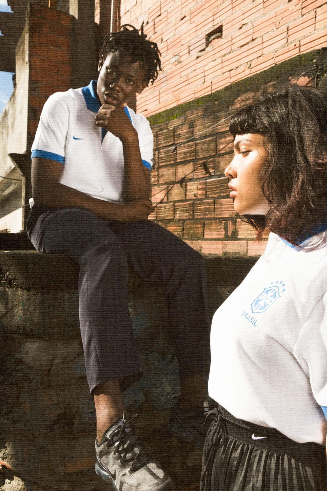 A campanha da nova camisa branca do Brasil, feita no Capão Redondo, em São Paulo (Foto: Amanda Adasz )