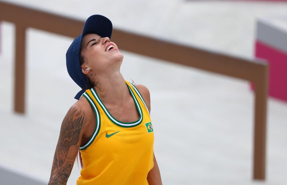 Leticia Bufoni; skate street feminino; olimpíadas de tóquio 2020 — Foto: REUTERS/Lucy Nicholson
