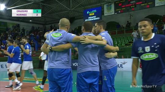 Em jogo tenso, Cruzeiro vence Maringá e fica a uma vitória da semifinal da Superliga