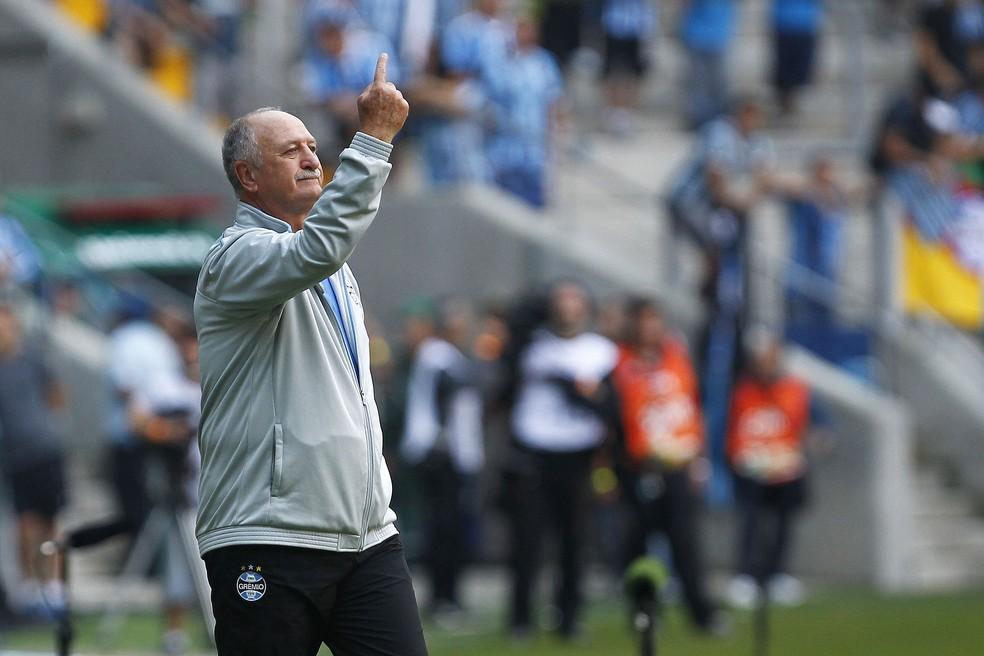 Felipão deixou o Grêmio em 2015 — Foto: Lucas Uebel/Divulgação Grêmio