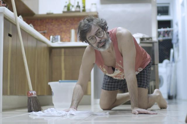 Bruno Mazzeo é Murilo em 'Diário de um confinado' (Foto: Glauco Firpo/TV Globo)