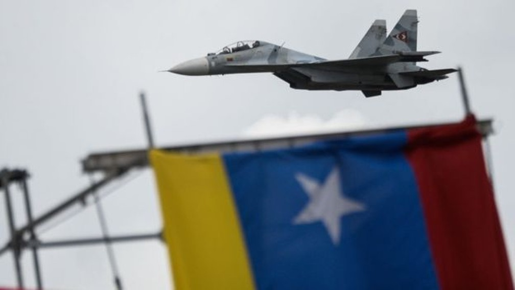 Rússia vendeu aviões de combate para a Venezuela — Foto: AFP