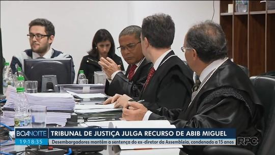 TJ-PR nega recurso e mantém condenação contra ex-diretor da Assembleia Legislativa do Paraná