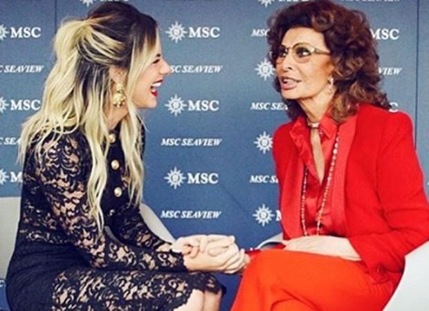 Giovanna Ewbank e Sophia Loren (Foto: Elvis Moreira/Instagram)