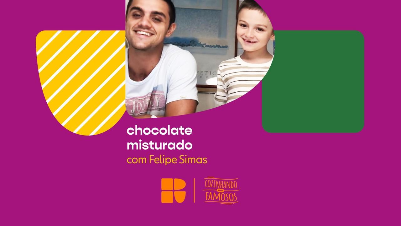 Felipe Simas e seu filho Joaquim ensinam a fazer 'Chocolate Misturado'