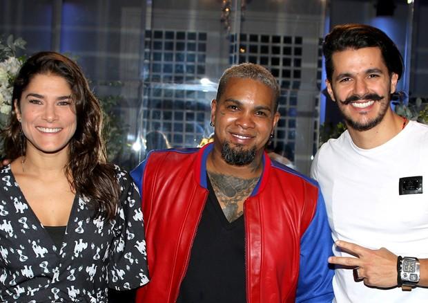 Priscila Fantin e Bruno Lopes com o aniversariante, Rodriguinho (Foto: Thiago Duran/AgNews)