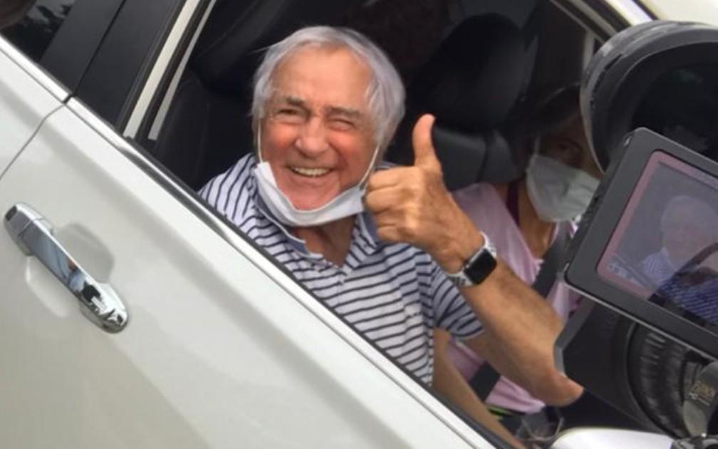 Ator Luis Gustavo é vacinado contra a Covid-19 em Itatiba — Foto: Arquivo pessoal