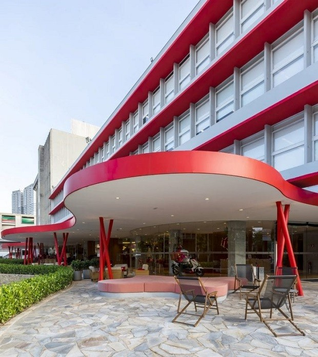 Fachada do escritório do iFood, projetado pela ITS em São Paulo (Foto: Alexandre Oliveira - Jafo Fotografia)