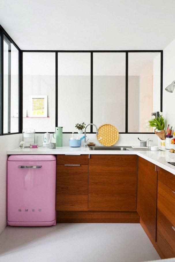 Pink kitchens (Photo: Disclosure)