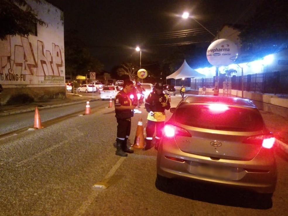 Somente durante o mês de dezembro doe 2018, 83 motoristas foram notificados durante Operação Lei Seca na Paráiba — Foto: Divulgação/Detran-PB