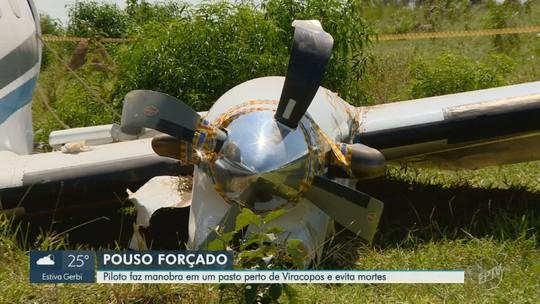 Avião faz pouso forçado em bairro de Campinas e 5 ocupantes sobrevivem